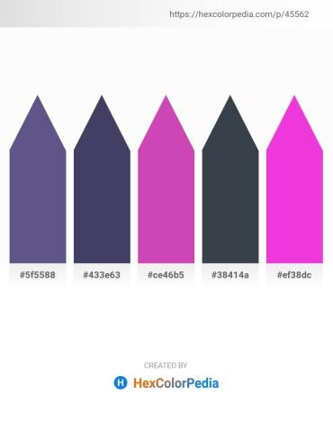 Palette image download - Dark Slate Blue – Dark Slate Blue – Orchid – Dark Slate Gray – Magenta