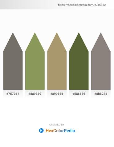 Palette image download - Dim Gray – Dark Khaki – Dark Khaki – Dark Olive Green – Gray