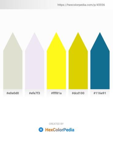 Palette image download - Gainsboro – Light Steel Blue – Yellow – Gold – Dark Cyan