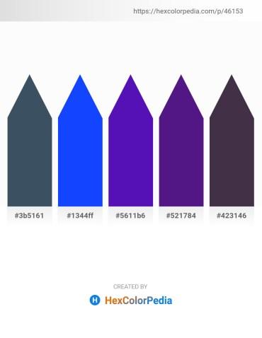 Palette image download - Dark Slate Gray – Blue – Blue Violet – Midnight Blue – Steel Blue