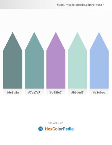 Palette image download - Slate Gray – Cadet Blue – Honeydew – Light Steel Blue – Sky Blue
