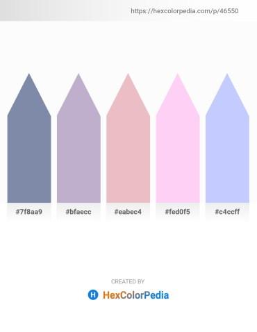 Palette image download - Light Slate Gray – Light Steel Blue – Plum – Lavender Blush – Alice Blue