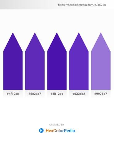 Palette image download - Blue Violet – Dark Orchid – Indigo – Dark Orchid – Medium Purple
