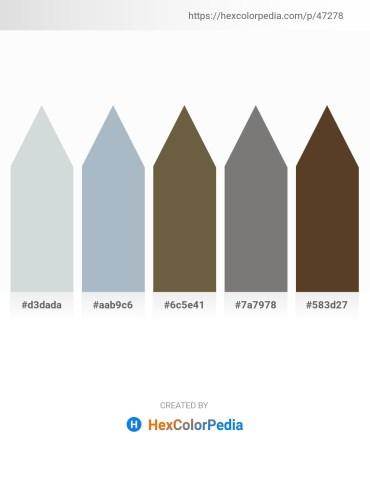 Palette image download - Light Steel Blue – Light Steel Blue – Dark Olive Green – Gray – Light Steel Blue