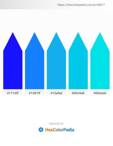 Palette image download - Blue – Dodger Blue – Deep Sky Blue – Dark Turquoise – Dark Turquoise