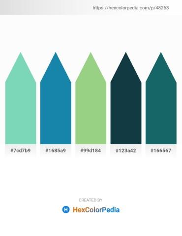 Palette image download - Medium Aquamarine – Forest Green – Dark Sea Green – Midnight Blue – Lime