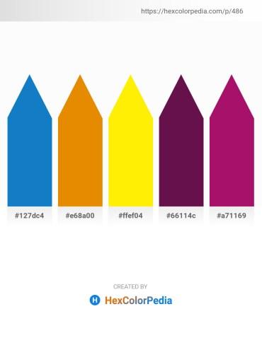 Palette image download - Dark Cyan – Dark Orange – Yellow – Tomato – Medium Violet Red