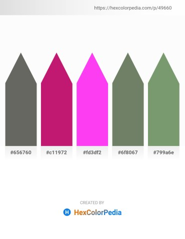 Palette image download - Dim Gray – Medium Violet Red – Magenta – Dim Gray – Dark Sea Green