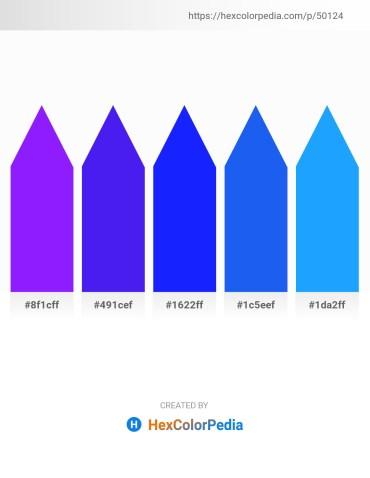 Palette image download - Dark Violet – Blue Violet – Blue – Royal Blue – Dodger Blue