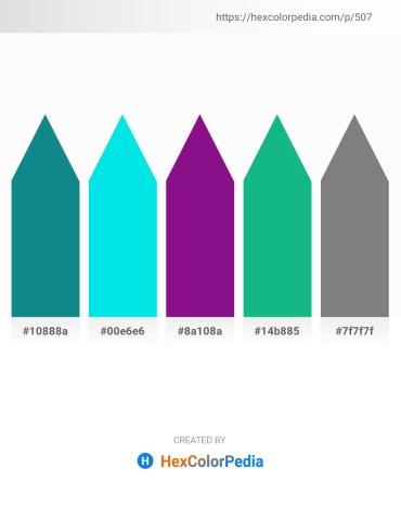 Palette image download - Light Sea Green – Dark Turquoise – Dark Magenta – Light Sea Green – Gray