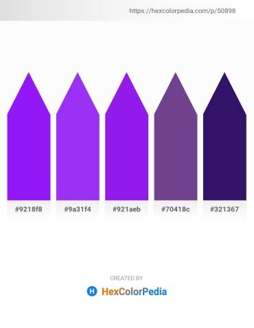 Palette image download - Dark Violet – Blue Violet – Blue Violet – Dark Slate Blue – Midnight Blue