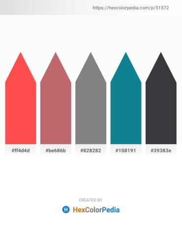 Palette image download - Tomato – Indian Red – Gray – Dark Cyan – Dark Slate Gray
