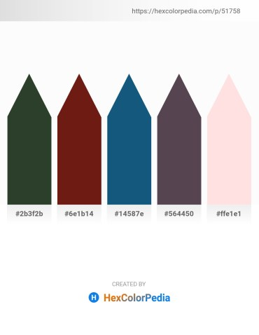 Palette image download - Dark Slate Gray – Saddle Brown – Yellow Green – Dim Gray – Misty Rose