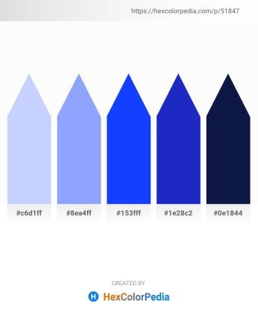Palette image download - Alice Blue – Light Sky Blue – Blue – Royal Blue – Black