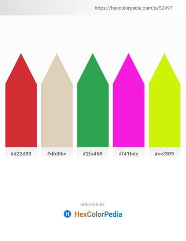 Palette image download - Firebrick – Tan – Sea Green – Magenta – Yellow