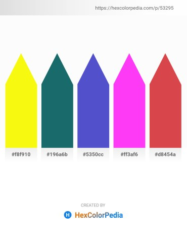 Palette image download - Yellow – Black – Slate Blue – Magenta – Indian Red