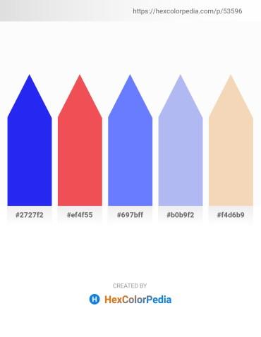 Palette image download - Blue – Tomato – Medium Slate Blue – Sky Blue – Wheat