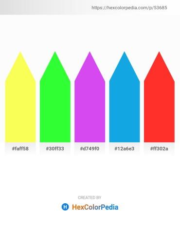 Palette image download - Green Yellow – Lime – Blue Violet – Deep Sky Blue – Orange Red