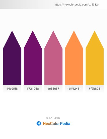 Palette image download - Midnight Blue – Purple – Indian Red – Coral – Orange