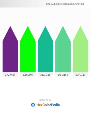 Palette image download - Dark Slate Blue – Lime – Light Sea Green – Medium Aquamarine – Light Green