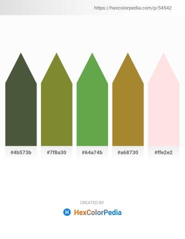 Palette image download - Dark Olive Green – Olive Drab – Medium Sea Green – Dark Khaki – Misty Rose