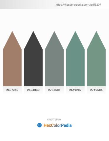 Palette image download - Rosy Brown – Dim Gray – Slate Gray – Cadet Blue – Cadet Blue