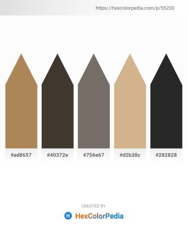 Palette image download - Dark Khaki – Slate Gray – Dim Gray – Tan – Black