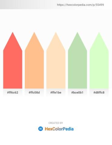 Palette image download - Coral – Light Salmon – Bisque – Medium Aquamarine – Honeydew