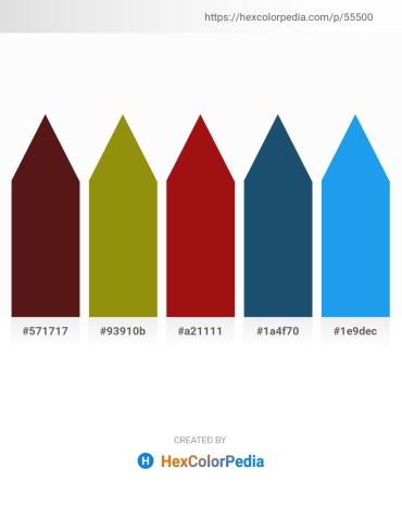 Palette image download - Lime – Dark Goldenrod – Firebrick – Midnight Blue – Dodger Blue