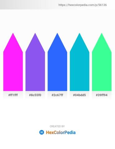 Palette image download - Magenta – Medium Slate Blue – Dodger Blue – Dark Turquoise – Medium Spring Green
