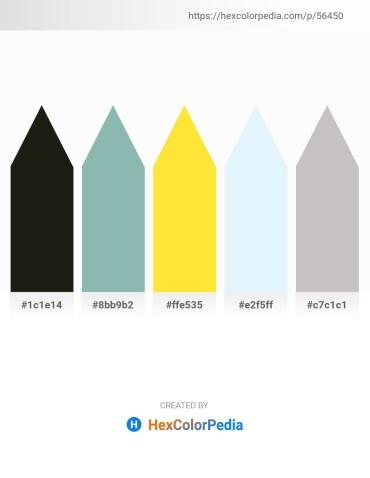 Palette image download - Black – Dark Sea Green – Gold – Alice Blue – Silver
