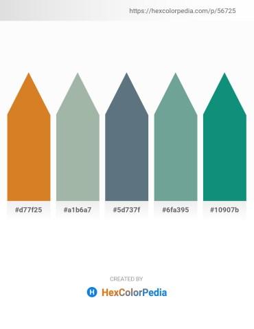 Palette image download - Chocolate – Dark Sea Green – Slate Gray – Cadet Blue – Dark Cyan