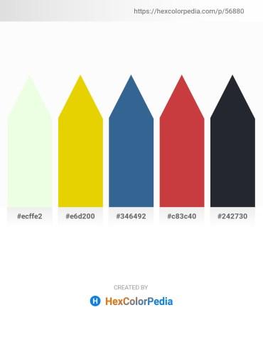 Palette image download - Honeydew – Gold – Steel Blue – Indian Red – Dark Slate Gray