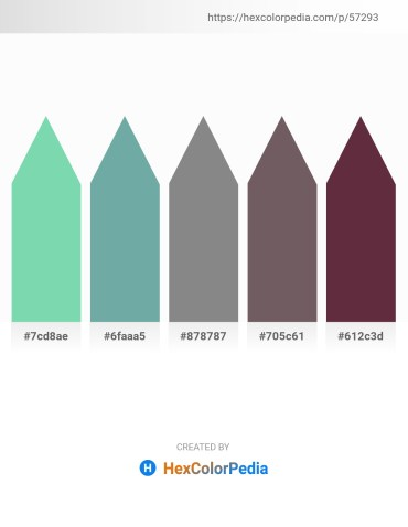 Palette image download - Medium Aquamarine – Cadet Blue – Gray – Dim Gray – Lime