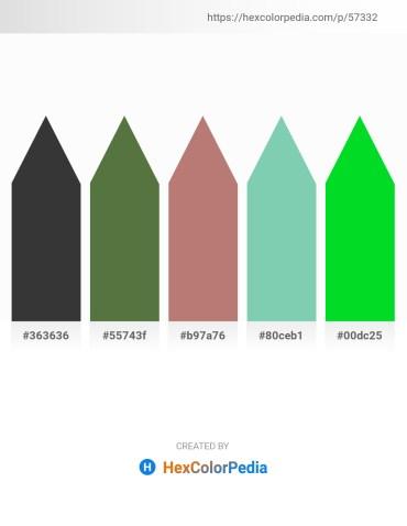 Palette image download - Dim Gray – Dark Olive Green – Rosy Brown – Medium Aquamarine – Lime