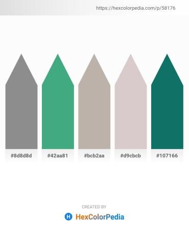 Palette image download - Gray – Medium Sea Green – Dark Gray – Light Gray – Teal