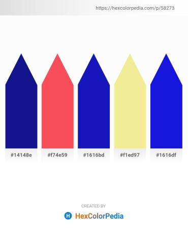 Palette image download - Midnight Blue – Tomato – Medium Blue – Khaki – Blue