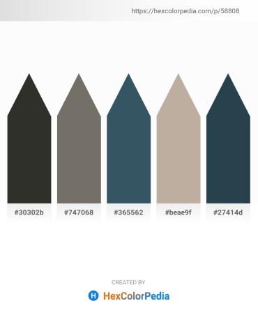 Palette image download - Black – Dim Gray – Dark Slate Gray – Rosy Brown – Dark Slate Gray