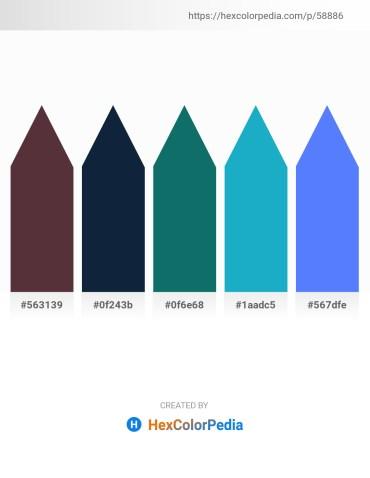 Palette image download - Dark Slate Blue – Midnight Blue – Teal – Light Sea Green – Dodger Blue