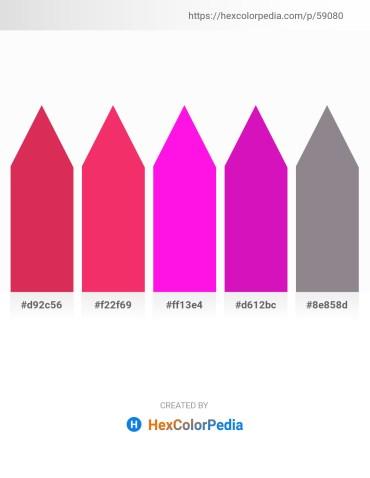 Palette image download - Crimson – Crimson – Magenta – Medium Violet Red – Gray