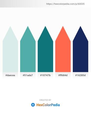 Palette image download - Light Steel Blue – Cadet Blue – Teal – Tomato – Midnight Blue