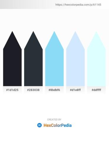 Palette image download - Dark Slate Gray – Dark Slate Gray – Light Sky Blue – Alice Blue – Light Cyan