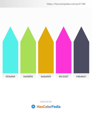Palette image download - Turquoise – Yellow Green – Orange – Magenta – Black