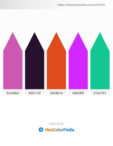 Palette image download - Orchid – Midnight Blue – Chocolate – Dark Violet – Light Sea Green