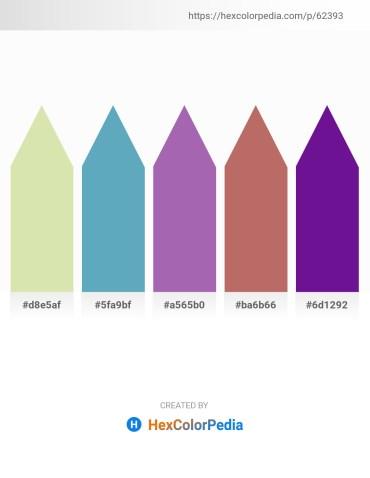 Palette image download - Pale Goldenrod – Steel Blue – Medium Orchid – Indian Red – Indigo