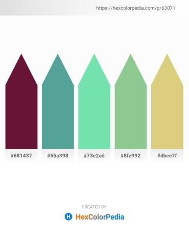 Palette image download - Indigo – Cadet Blue – Medium Aquamarine – Dark Sea Green – Burlywood