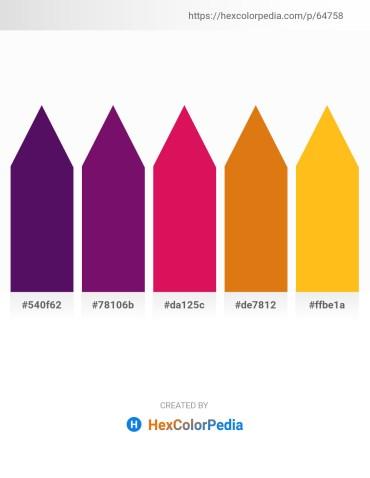 Palette image download - Midnight Blue – Purple – Crimson – Chocolate – Orange