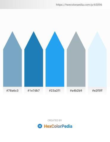 Palette image download - Dark Sea Green – Dim Gray – Dodger Blue – Light Slate Gray – Alice Blue