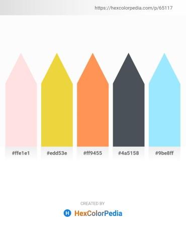 Palette image download - Misty Rose – Navajo White – Coral – Dark Slate Gray – Light Sky Blue