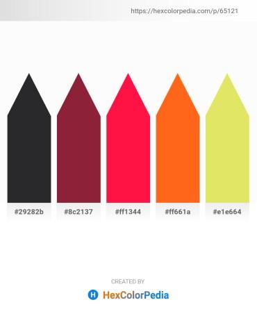 Palette image download - Dark Slate Gray – Brown – Red – Orange Red – Khaki